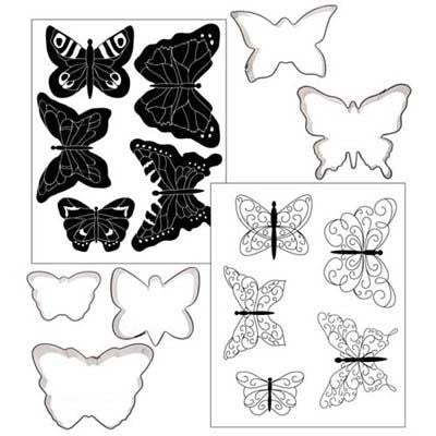 COOKIE CUT TEX. SET-BUTTERFLY