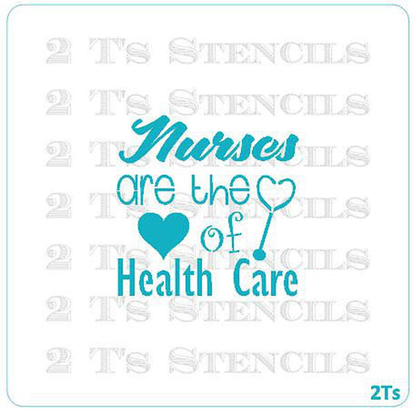 NURSE LOVE Stencil - 2 T's Stencils - Cookies Royal Icing Airbrush Cookie Decorating Cakes Etc