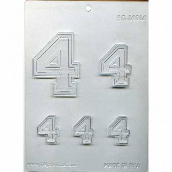 Collegiate Number #4 Chocolate Mold 90-14314 - FREE USA SHIPPING  Soap Concrete Plaster Crafts Birthday