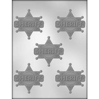 Sheriff Badge Chocolate Mold