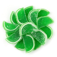 "Lime Jelly Fruit Slices 1.5"" -12 Perfect for Margarita Cupcakes"