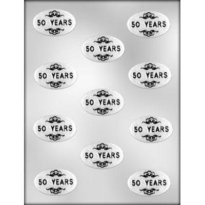 Oval 50 YEARS Mints Chocolate Mold - FREE USA SHIPPING - Ice Tray Soap Making Plaster Crafting Concrete Crafts