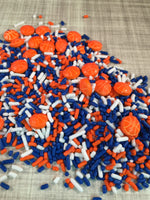 Basketball Sprinkles Mix (6 Color Options)