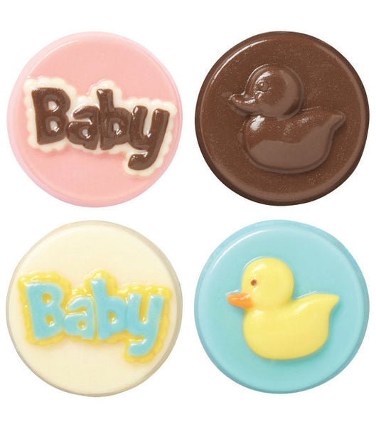 Baby Cookie Chocolate Mold - Its a Boy Its a Girl Ducklings Ducks