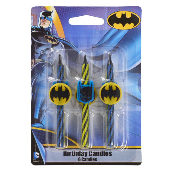 Batman Birthday Candles 6 count