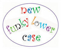 Funky Alphabet Lower Case Cutter Set