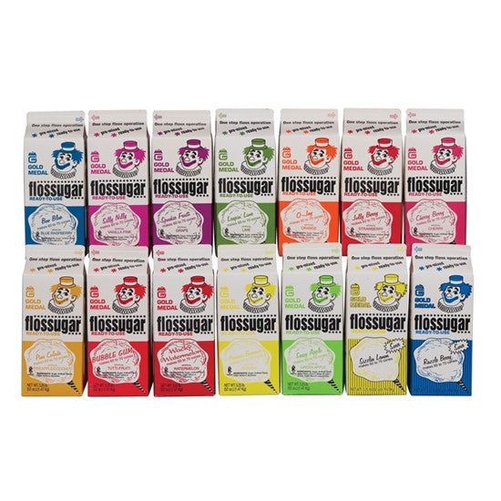 Flossugar Cotton Candy Full or Mixed Case 6 Cartons (17 Flavors)