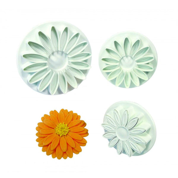 VEINED SUNFLOWER DAISY GERBERA SET 3 LRG