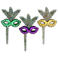 Mardi Gras Mask Cupcake Picks