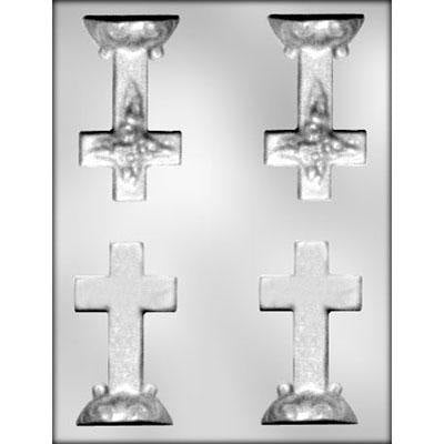 Cross / Base 3D Chocolate Mold FREE USA SHIPPING  Ice Tray Soap Making Plaster Crafting Concrete Crafts