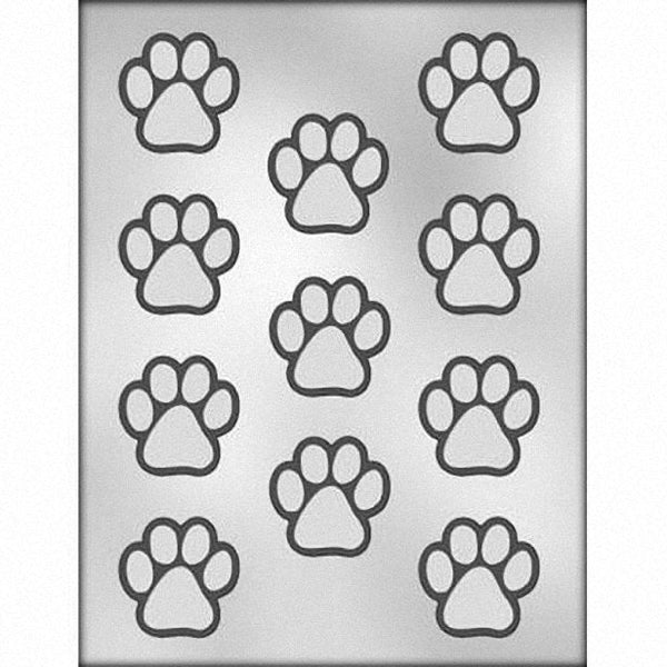 "Paw Print Chocolate Mold -  1.5"" FREE USA SHIPPING Ice Tray Soap Making Plaster Crafting Concrete Crafts"