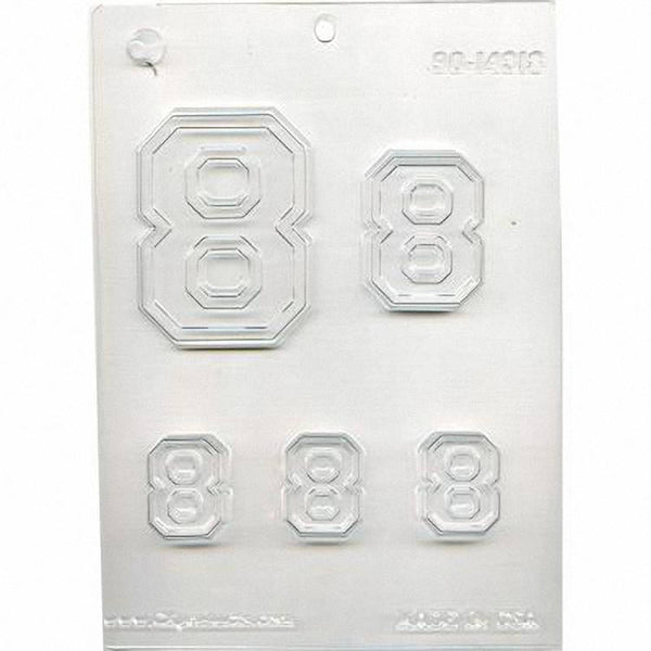 Collegiate Number #8 Chocolate Mold 90-14318 - FREE USA SHIPPING  Soap Concrete Plaster Crafts