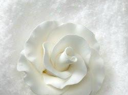 Formal Rose White Flower (2 Sizes) - 1 ½""