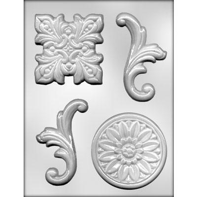 BAROQUE #4 CHOCOLATE MOLD 43-9473 FREE USA SHIPPING