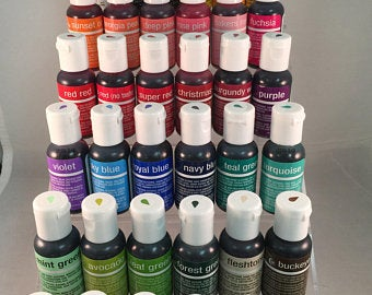 Airbrush Colors by Chefmaster 10 colors to choose from .64 oz