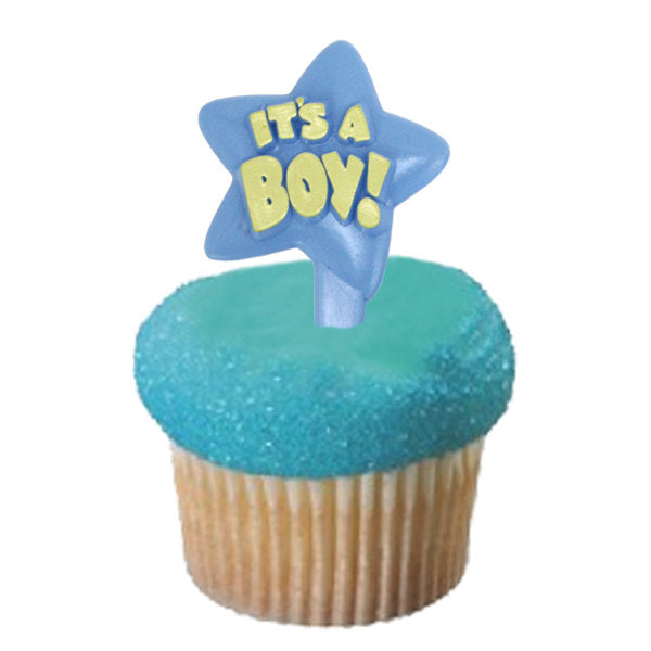 12 IT'S A BOY! Cupcake Picks - Baby Shower