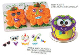 Silly Faces Plaque Cake Kit - 7 piece set Halloween Pumpkin Spider