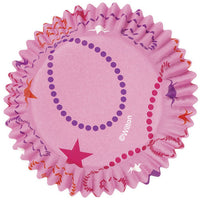 36 Wilton Color Cup Pink Swirls & Stars Celebrate Baking Cups - Cupcake Liners