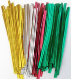 50 Gold Foil Twist Ties - Lorann Gourmet Candy Making