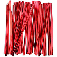 50 Red Foil Twist Ties - Lorann Gourmet Candy Making