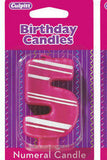 "Number ""5"" Birthday Candle  (2 Colors / 3 Designs)"