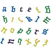Old English Lowercase FMM Alphabet - 2 Piece Set Tappit Letters