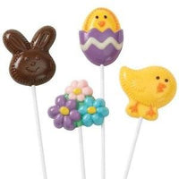 Wilton Fuzzy Bunny Lollipop Chocolate Mold - Discontinued Easter Sucker