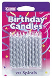 Spiral Celebration Candles (Gold and Silver) 20 ct