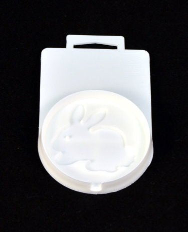 "2.75"" Flat Sucker Hard Candy Mold - Rabbit - Lorann"