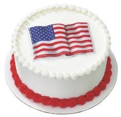 "American Flag 5"" POP TOP - Cake Plaque Pick Topper"