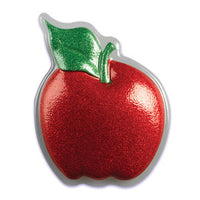 "Glitter Red Apple 5.5"" Pop Top - Cake Plaque Pick Topper Back to School"