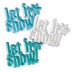 "3 PC Set Let It Snow Cake Lay On 4"" - Cake Plaque Pick Topper Winter Holidays Christmas"