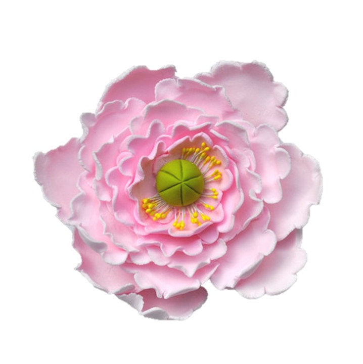 Large pink peony flower crown bakery supply large pink peony flower mightylinksfo