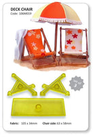 JEM 3 PC Deck Chair Cutter - Fondant Gumpaste Clay Crafts