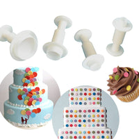 PME 3 PC Circle Plunger Cutter - Fondant Gumpaste Clay Crafts