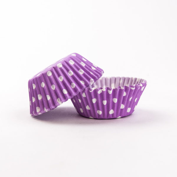 60 Lavender Polka Dots Cupcake Liners - PME Easter Spring