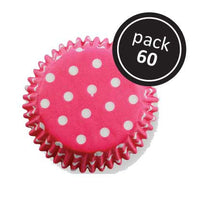 60 Pink Polka Dots Cupcake Liners - PME Easter Spring It's A Girl Baby