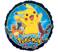 "17"" Pokemon Group Balloon - Pikachu Charizard & Yveltal Pokeball Gameboy Pokemon Go SuperShape XL"