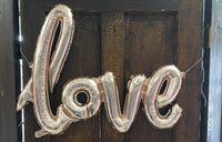 "GIANT 30"" love Balloon (INCLUDES HANDPUMP) - Rose Gold Blush, Pink Bridal Shower"