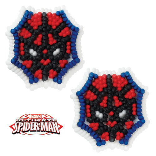 "12 Spiderman Icing Decorations 1.25"" - Marvel Comics"