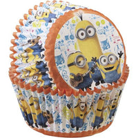 "50 Minions Cupcake Liners Cups - 2"" Despicable Me Pixar Baking"