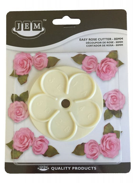 JEM Easy Rose Cutter 80 MM - Flower Paste Fondant Gumpaste Clay Crafts Sugar