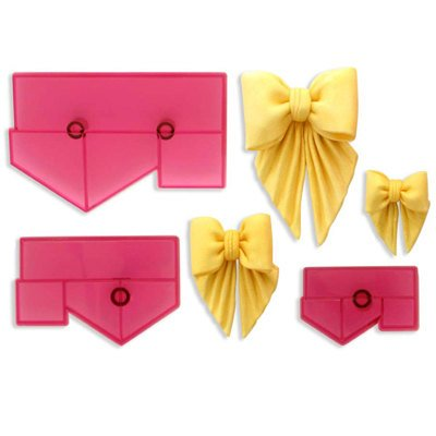 JEM 3 PC Bows for Drapes Cutter - Fondant Gumpaste Clay Crafts