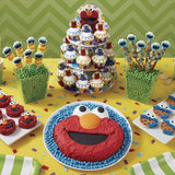 "12 Sesame Street Cupcake Fun Pix - 3"" Elmo & Cookie Monster"