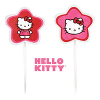 "24 Hello Kitty Cupcake Fun Pix - 3"" Pink & Red"