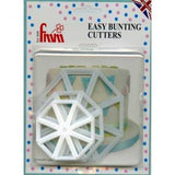3 PC Set Easy Bunting Cutter Set - FMM Cookie Fondant Gumpaste Clay Crafts Cake Decorating Flags