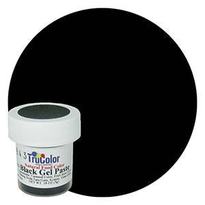 NEW BIGGER BOTTLE Black TruColor Natural Food Color Powder 0.35 oz (10 grams)- Kosher All Natural Food Coloring Tru Color