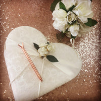 VINTAGE Heart Guest Book