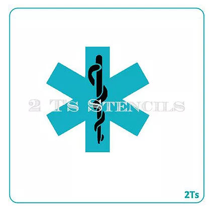 Star of Life 2 Stencil Set