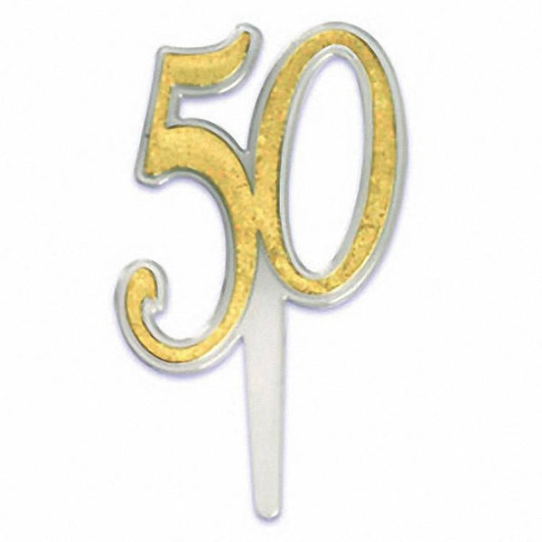 50 Cake Pick Topper - 6 pack